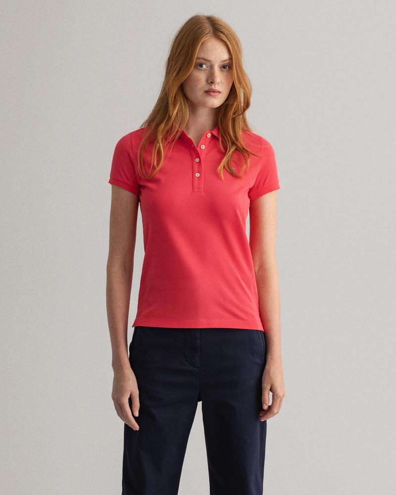 Gant Kadın Kırmızı Regular Fit Polo