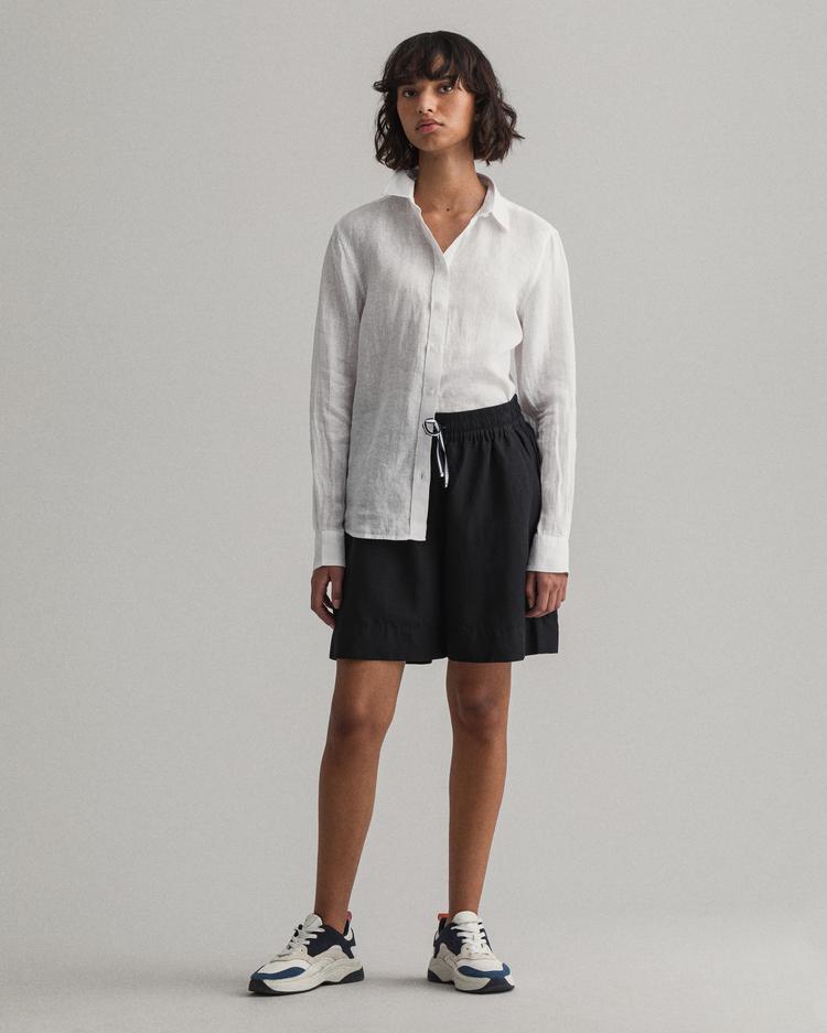 GANT Kadın Beyaz Keten Gömlek