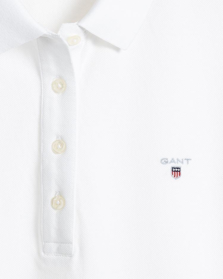 GANT Kadın Regular Fit Pique Beyaz Polo