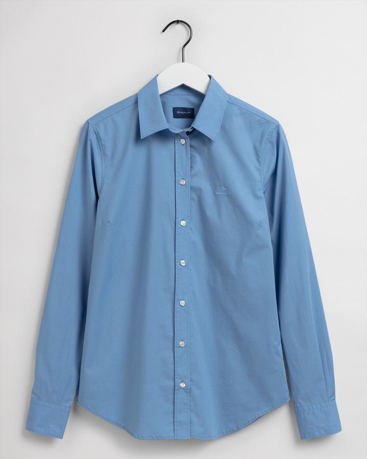 GANT Kadın Mavi Slim Fit Gömlek