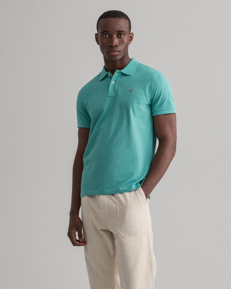 Gant Erkek Yeşil Kısa Kollu Regular Fit Polo