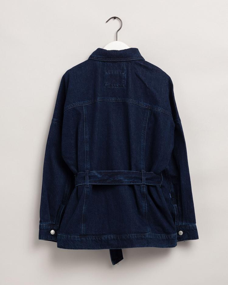 Gant Kadın Lacivert Oversize Denim Ceket