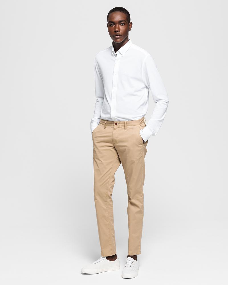 GANT Erkek Twill Chino Bej Slim Pantolon
