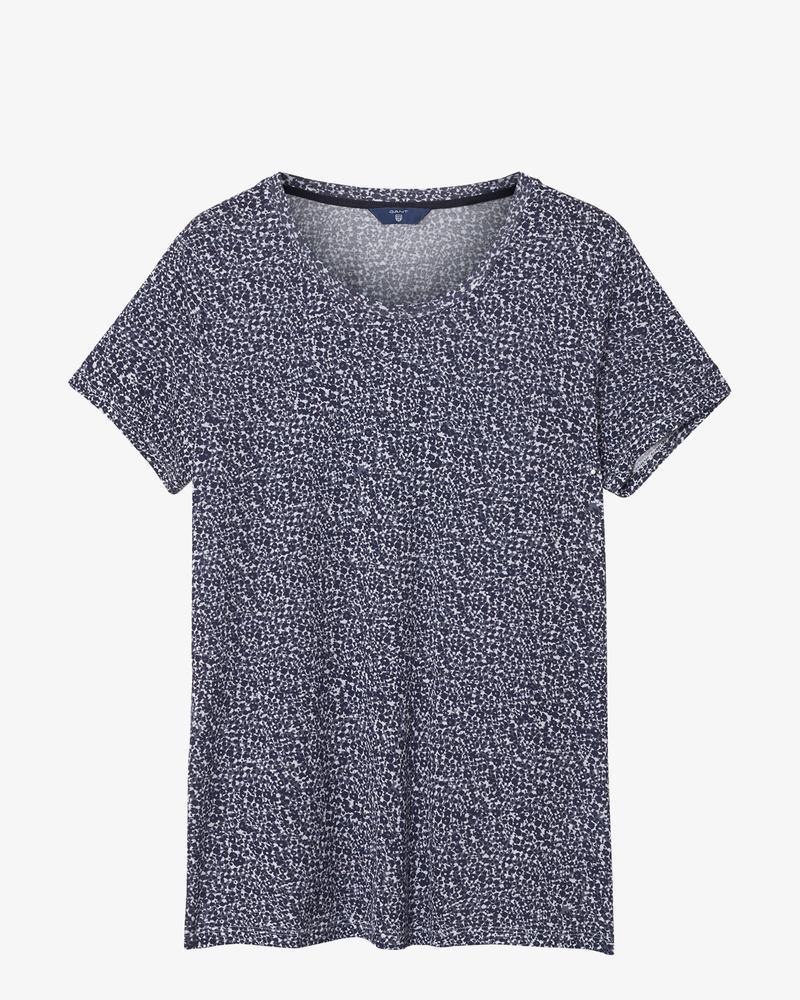 Kadın Lacivert Desenli Tshirt