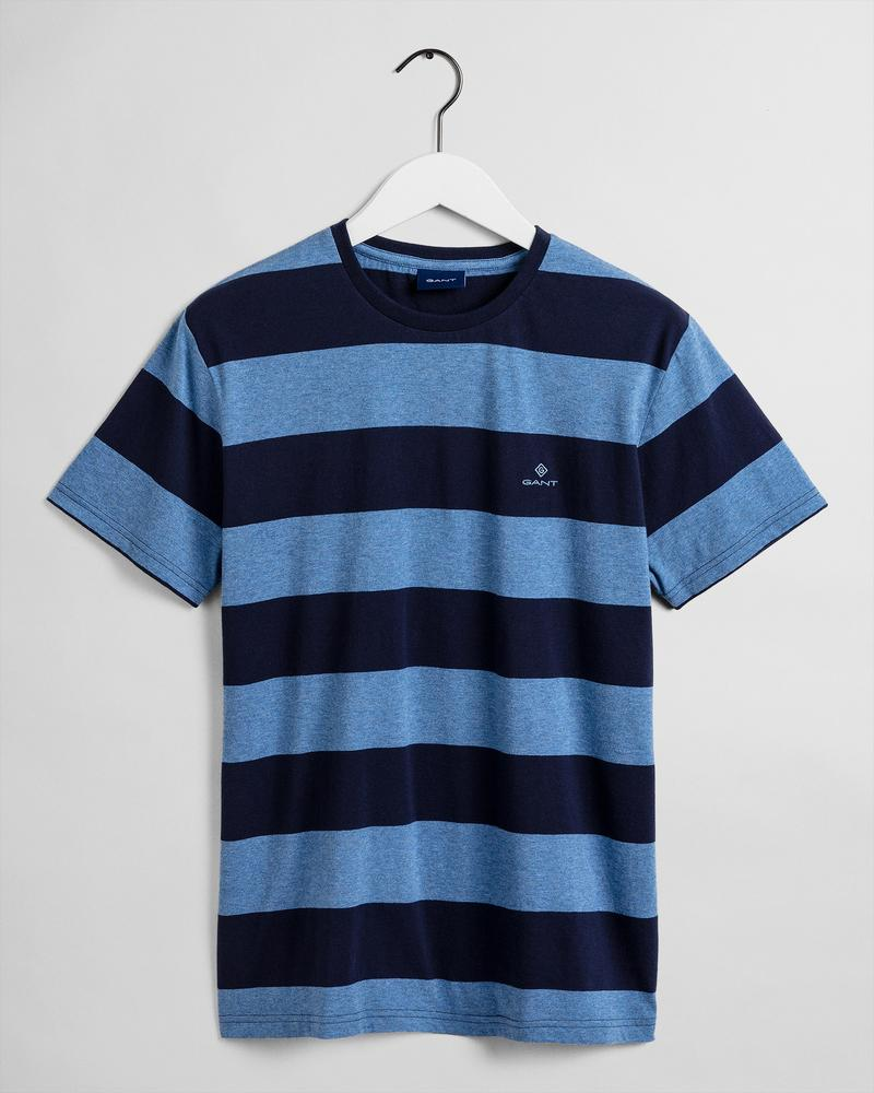 GANT Erkek Lacivert Çizgili T-Shirt