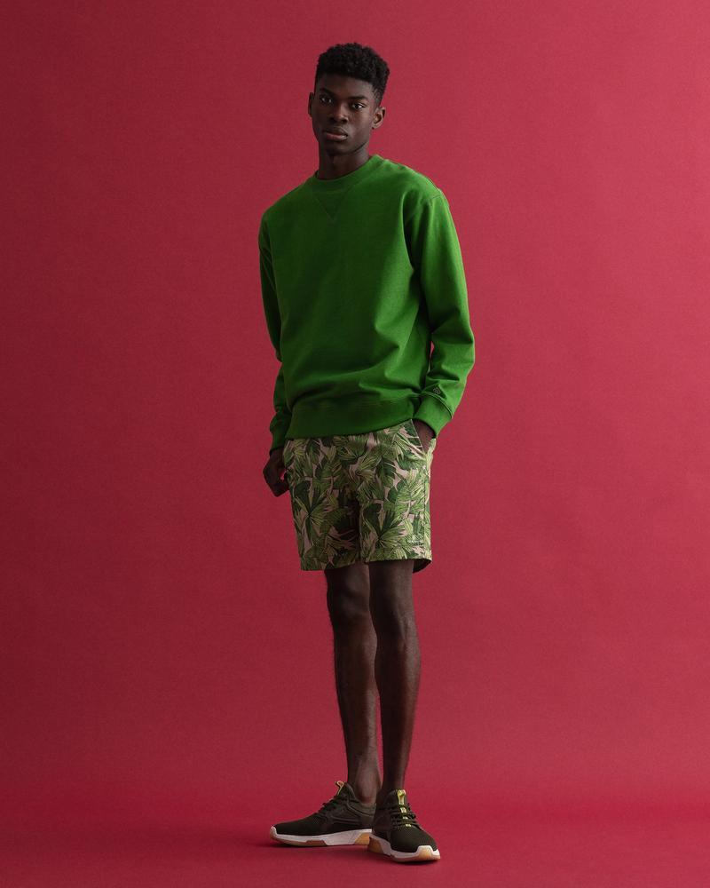 GANT Erkek Yeşil Desenli Bermuda Şort