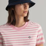 GANT Kadın Pembe Çizgili T-shirt