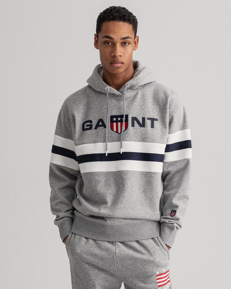 GANT Erkek Gri Relaxed Fit Sweatshirt