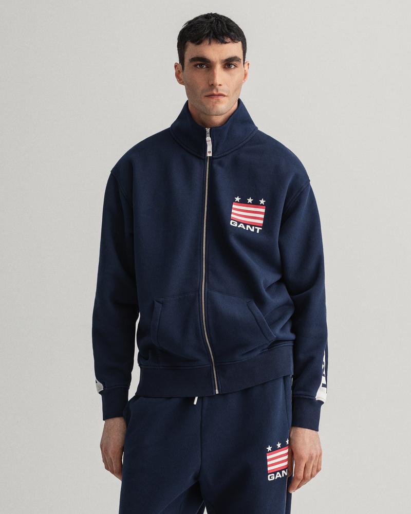 Gant Erkek Lacivert Regular Fit Uzun Kollu Sweatshirt