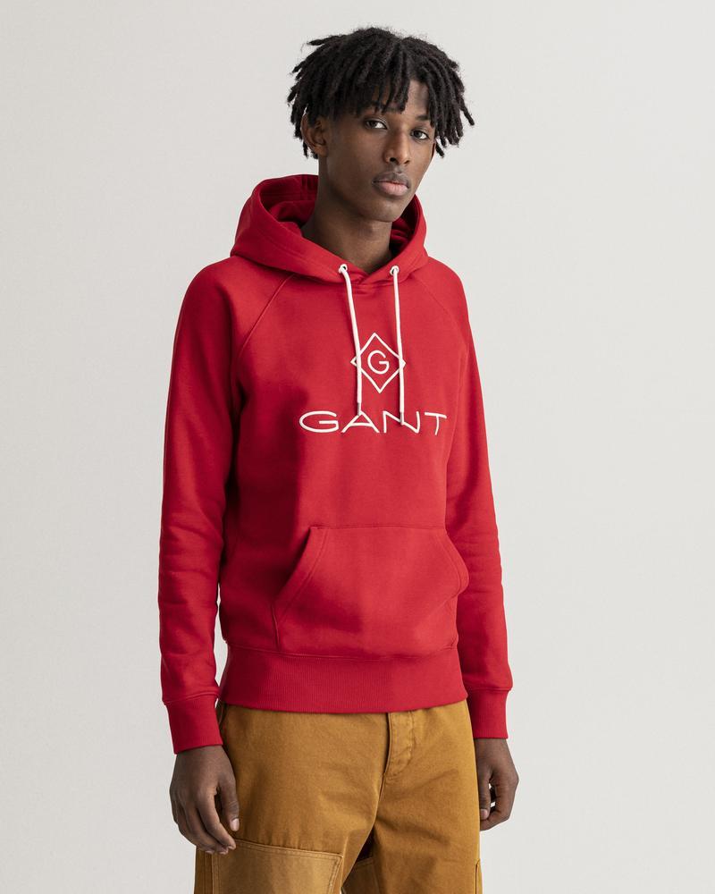 Gant Erkek Kırmızı Regular Fit Uzun Kollu Sweatshirt