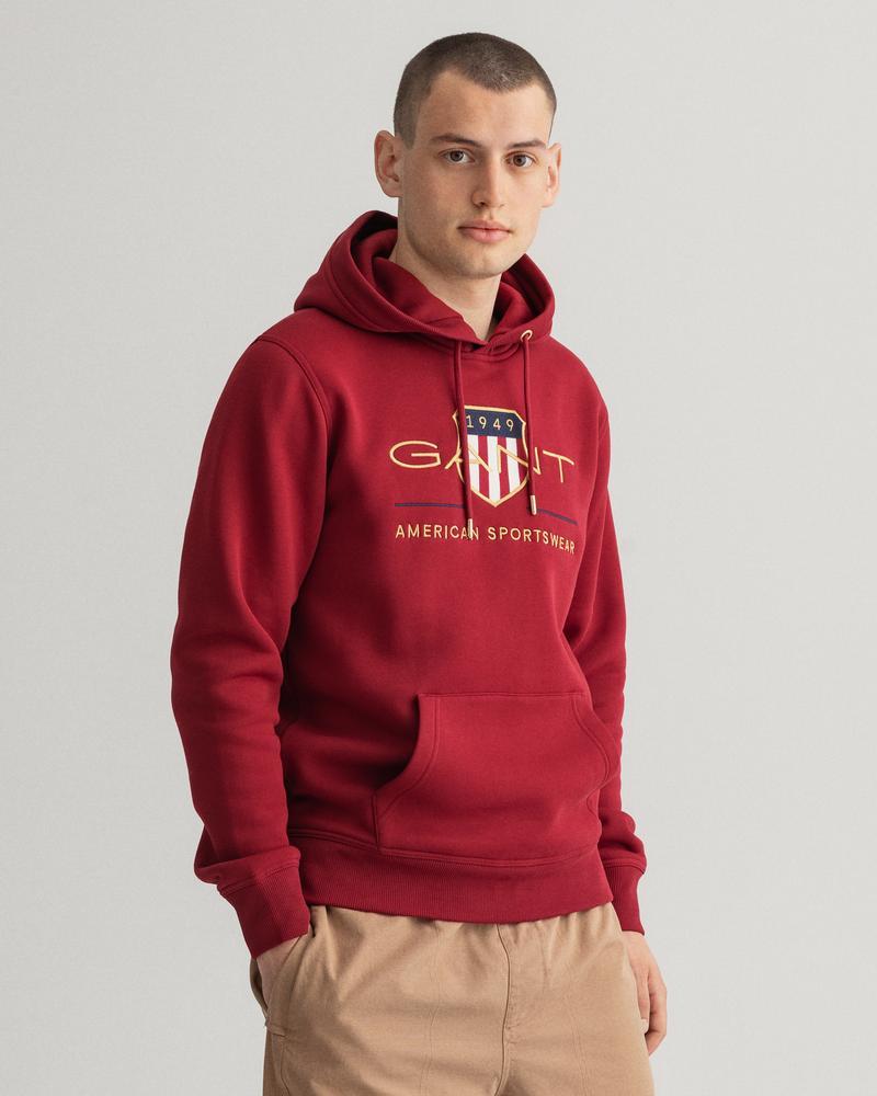 Gant Erkek Bordo Regular Fit Uzun Kollu Sweatshirt