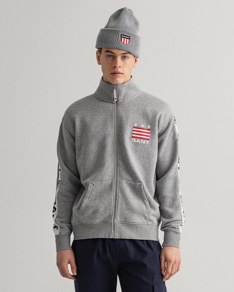 Gant Erkek Gri Regular Fit Uzun Kollu Sweatshirt