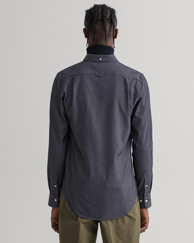 Gant Erkek Gri Slim Fit Gömlek