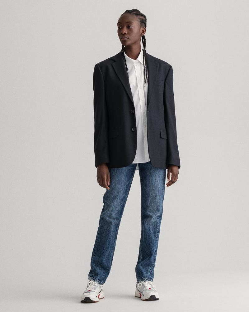 GANT Kadın Lacivert Regular Fit Jean Pantolon