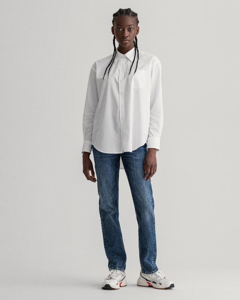 Gant Kadın Lacivert Regular Fit Pantolon
