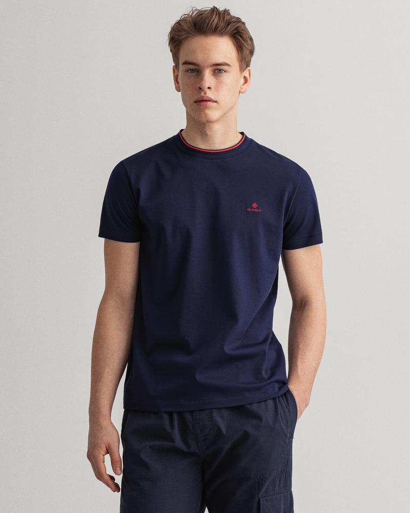 Gant Erkek Lacivert Regular Fit Kısa Kollu T-shirt