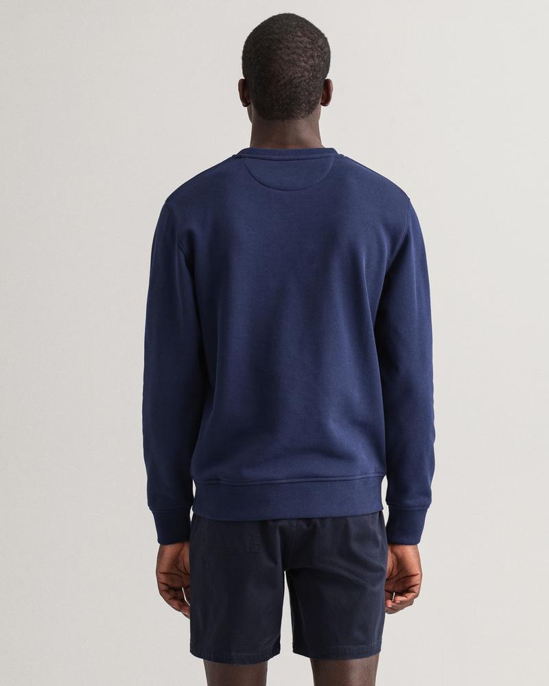 GANT Erkek Lacivert Baskılı Regular Fit Sweatshirt