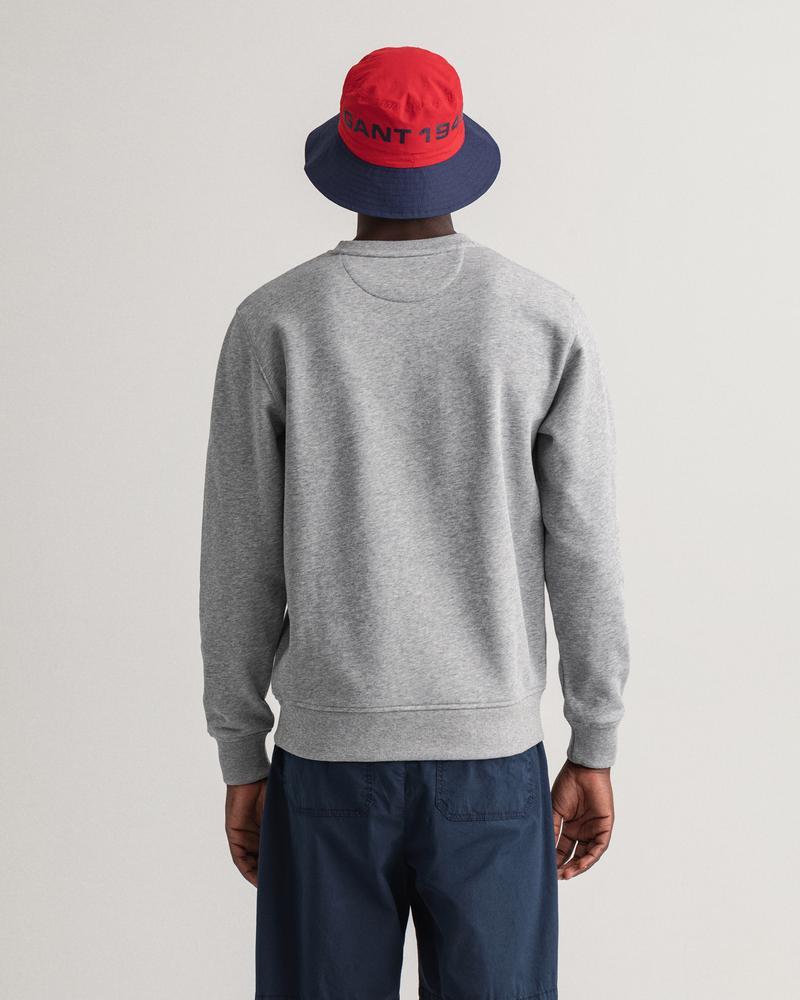 GANT Erkek Gri Baskılı Regular Fit Sweatshirt