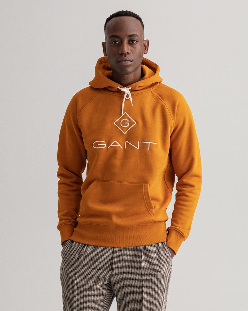 Gant Erkek Turuncu Regular Fit Uzun Kollu Sweatshirt