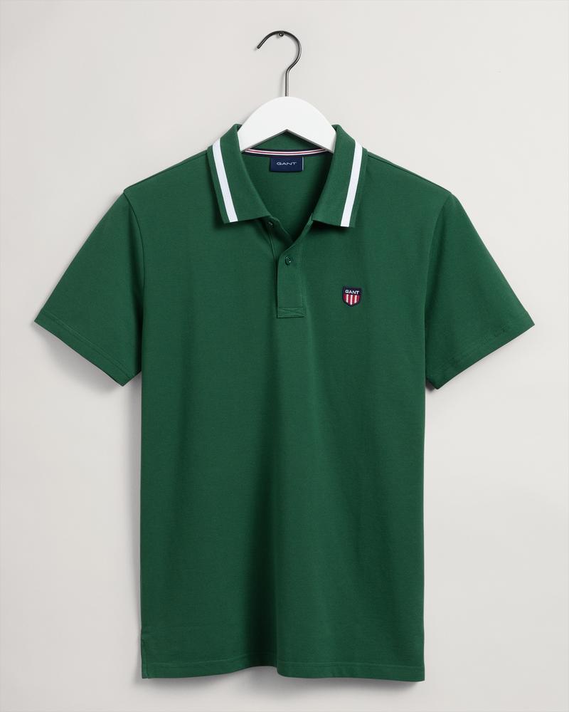 Gant Erkek Yeşil Regular Fit Kısa Kollu Polo
