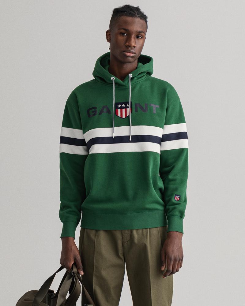 GANT Erkek Yeşil Relaxed Fit Sweatshirt