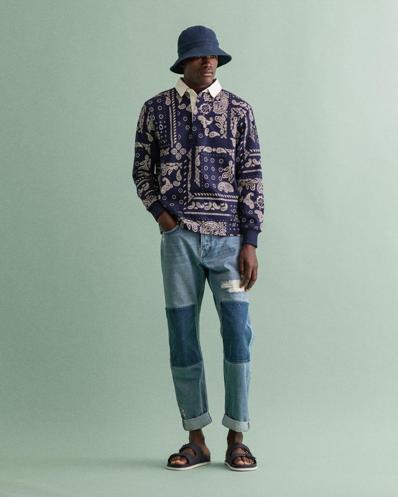 Gant Erkek Mavi Denim Pantolon