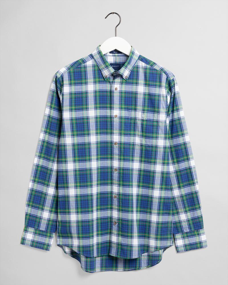 Gant Erkek Yeşil Kareli Uzun Kollu Regular Fit Gömlek