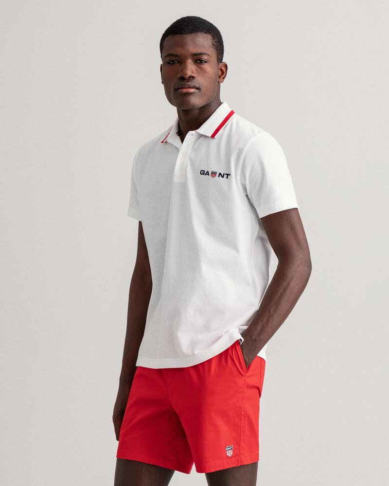 Gant Erkek Beyaz Baskılı Polo