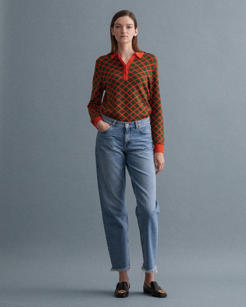 GANT Kadın Relaxed Fit Mavi Jean Pantolon