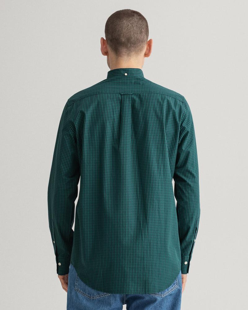 GANT Erkek Yeşil Regular Fit Kareli Gömlek