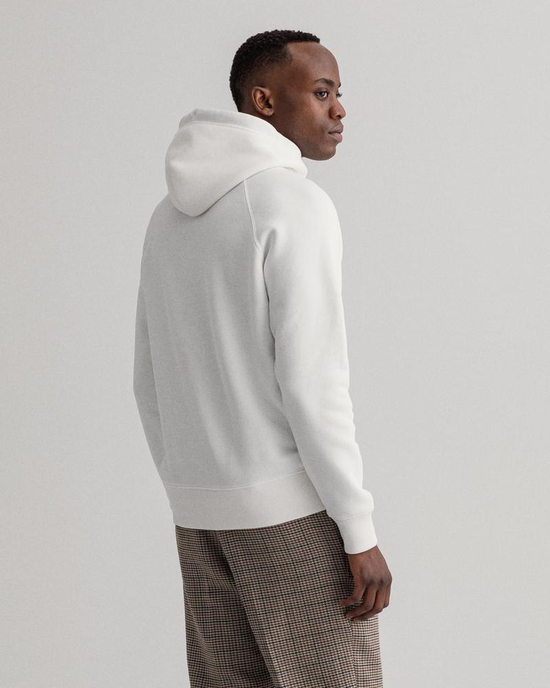 GANT Erkek Beyaz Regular Fit Sweatshirt