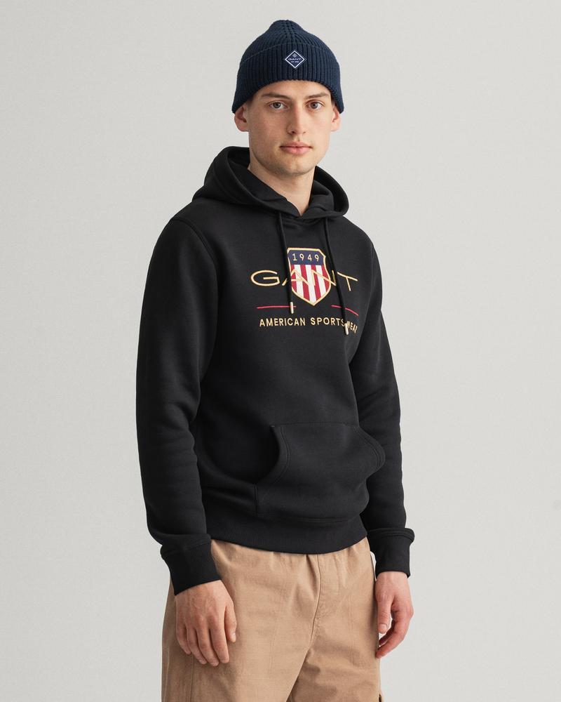 GANT Erkek Siyah Regular Fit Sweatshirt