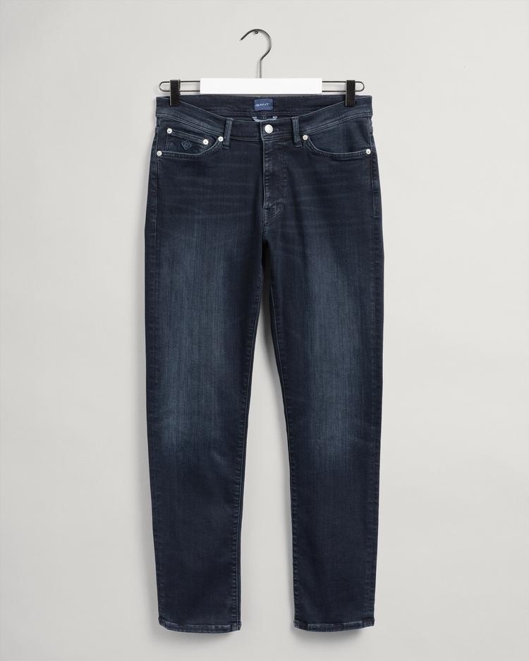 GANT Erkek Siyah Slim Fit Jean Pantolon