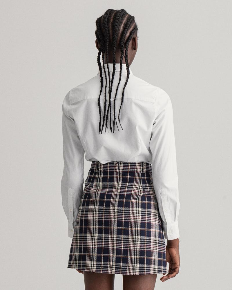 GANT Kadın Beyaz Slim Fit Stretch Oxford Gömlek