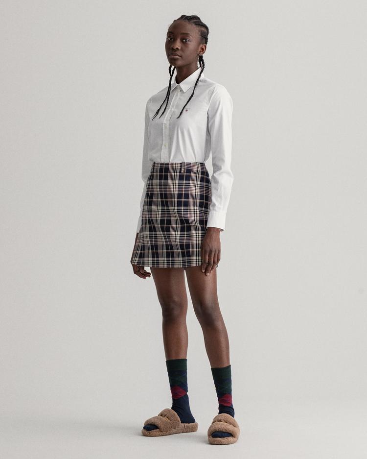GANT Kadın Beyaz Slim Fit Oxford Gömlek