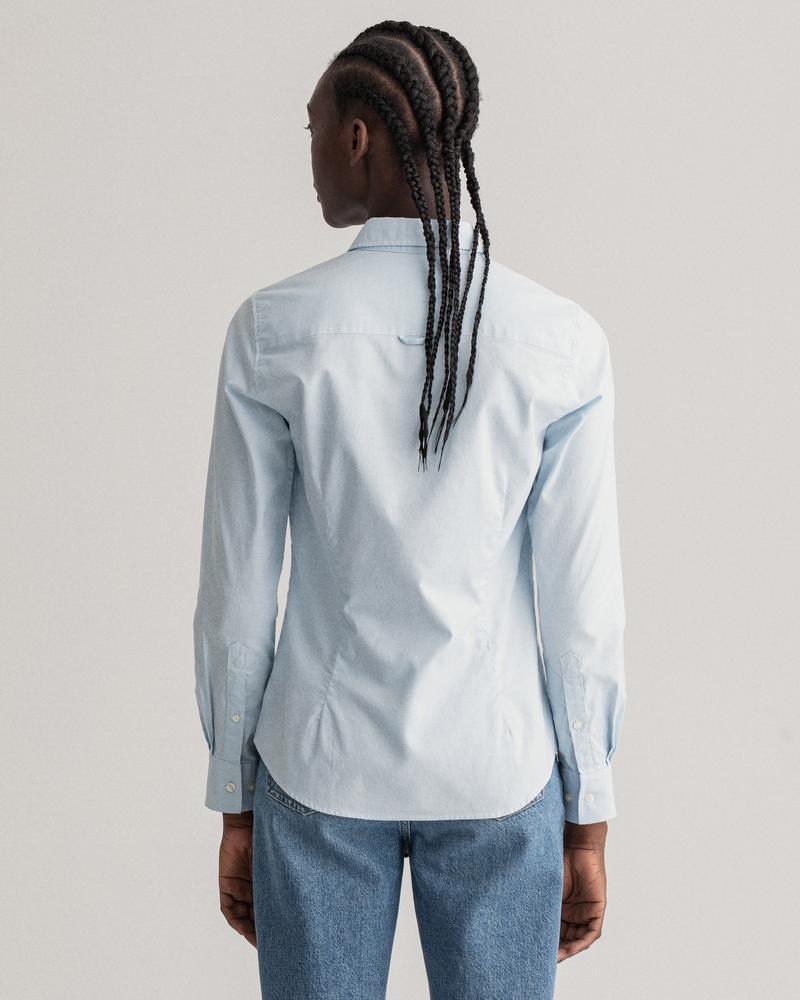 GANT Kadın Mavi Slim Fit Stretch Oxford Gömlek