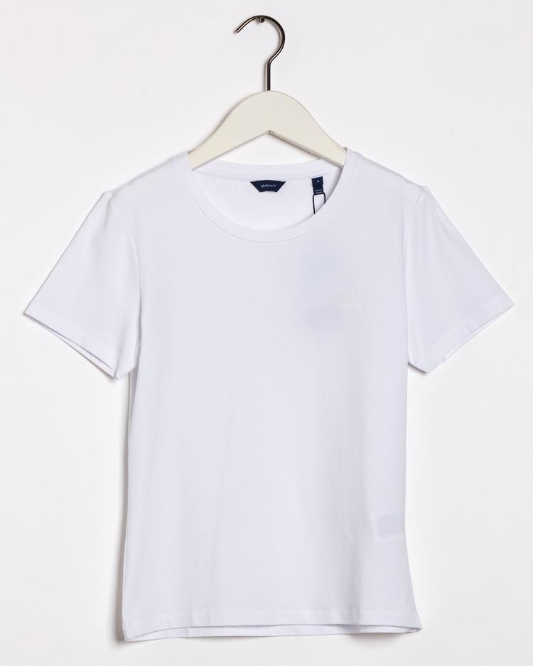 Gant Kadın Beyaz Slim Fit T-Shirt