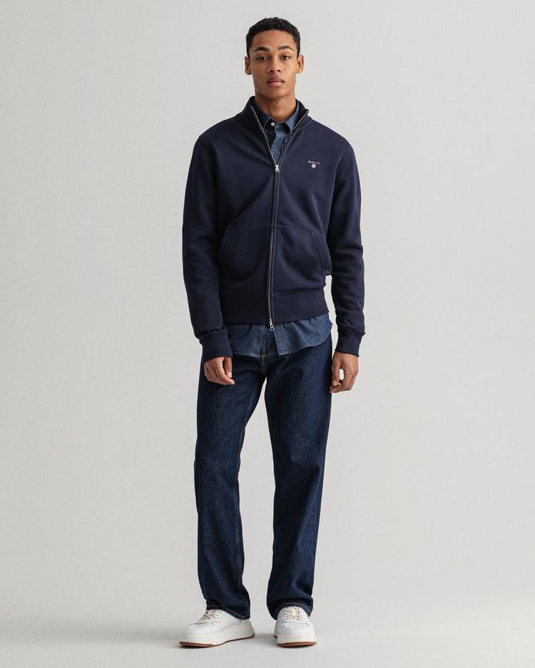 GANT Erkek Lacivert Regular Fit Fermuarlı Sweatshirt