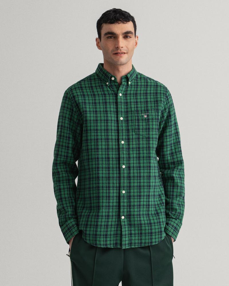 GANT Erkek Yeşil Kareli Çift Taraflı Gömlek