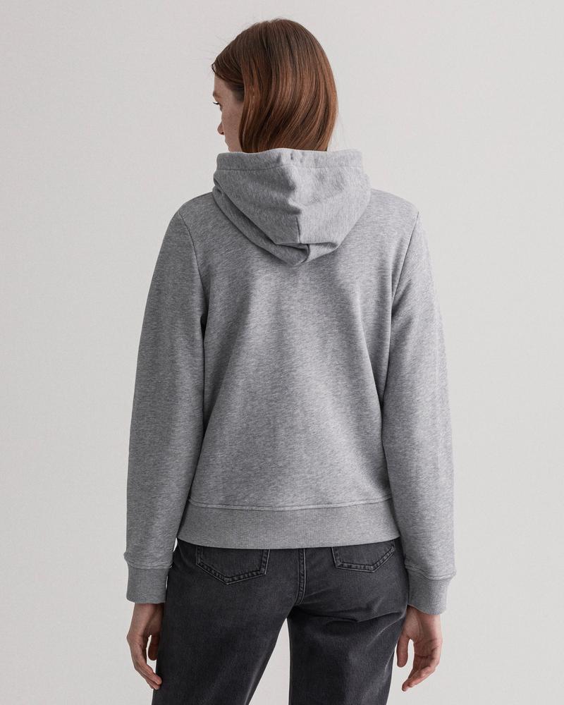 GANT Kadın Gri Regular Fit Fermuarlı Sweatshirt
