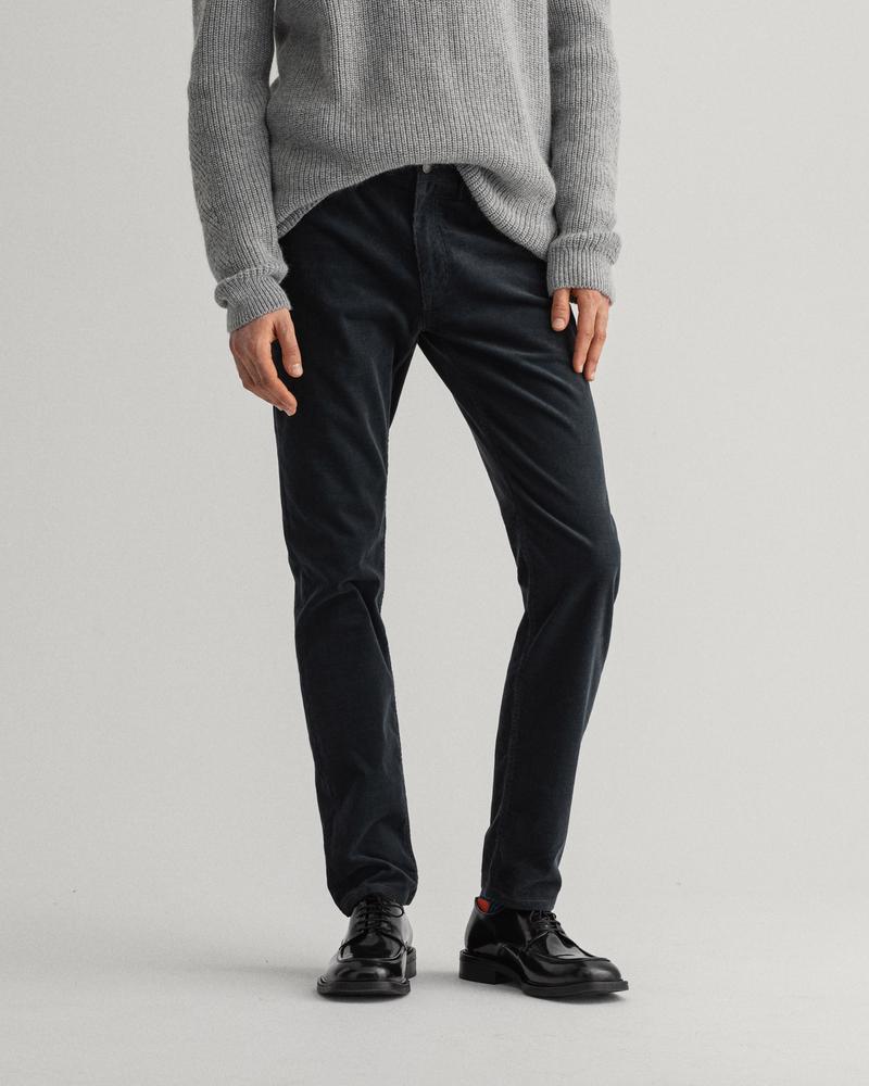 GANT Erkek Gri Slim Fit Pantolon