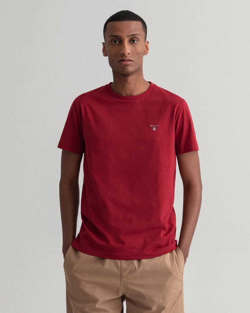 GANT Erkek Bordo Regular Fit T-Shirt