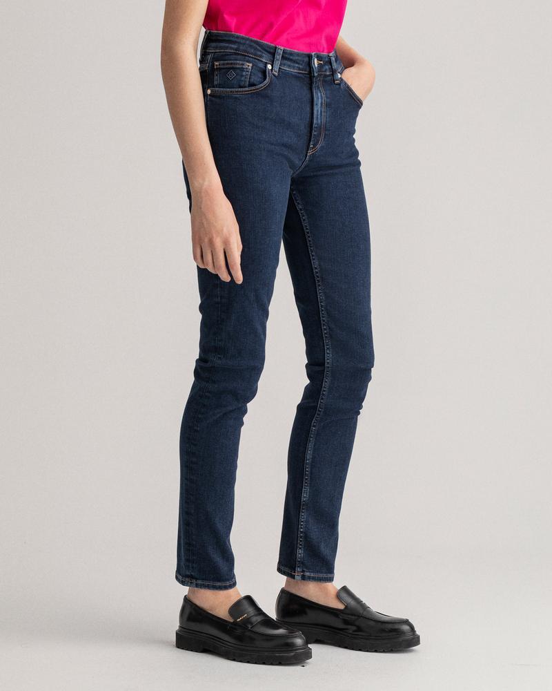 GANT Kadın Lacivert Slim Fit Jean Pantolon