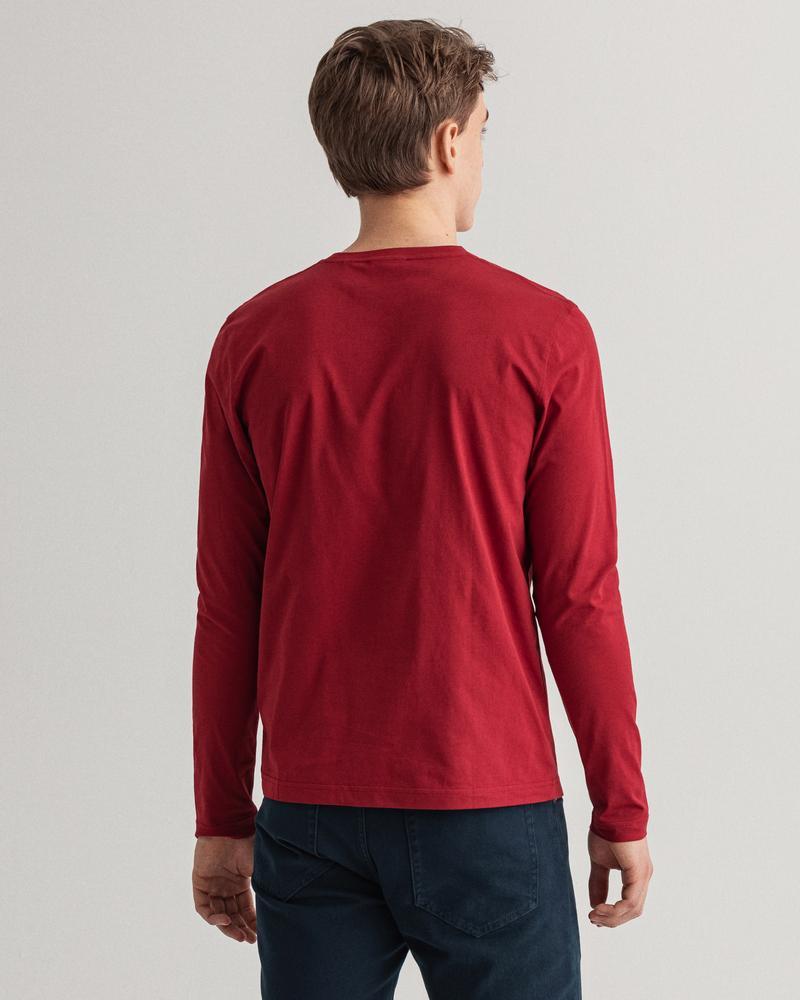 GANT Erkek Bordo Regular Fit Uzun Kollu T-Shirt