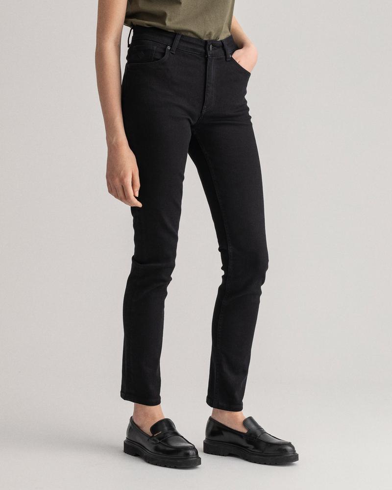 GANT Kadın Siyah Slim Fit Jean Pantolon