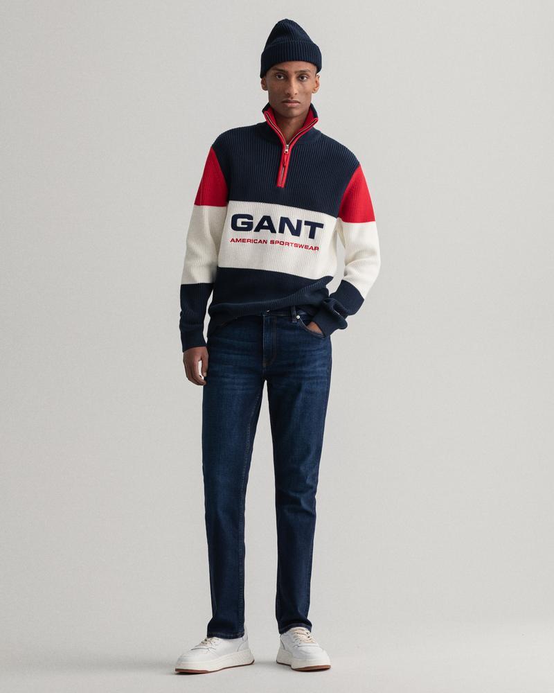 GANT Erkek Lacivert Extra Slim Fit Jean Pantolon