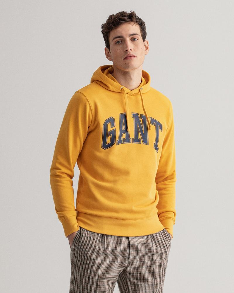 GANT Erkek Sarı Baskılı Regular Fit Sweatshirt