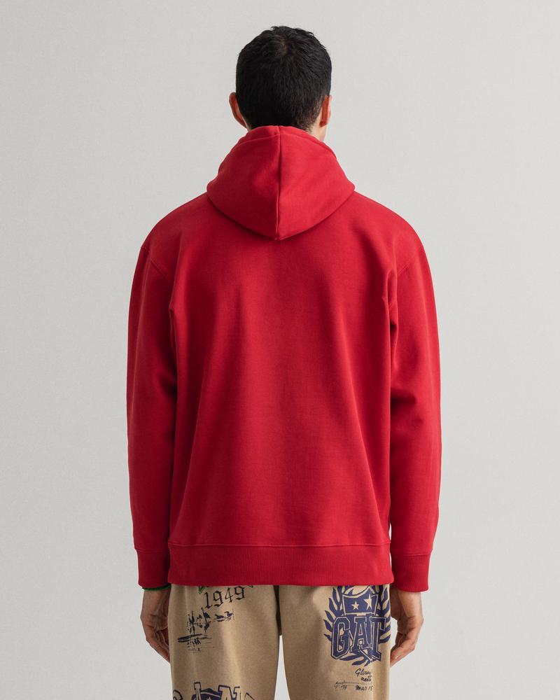 GANT Erkek Kırmızı Baskılı Relaxed Fit Sweatshirt