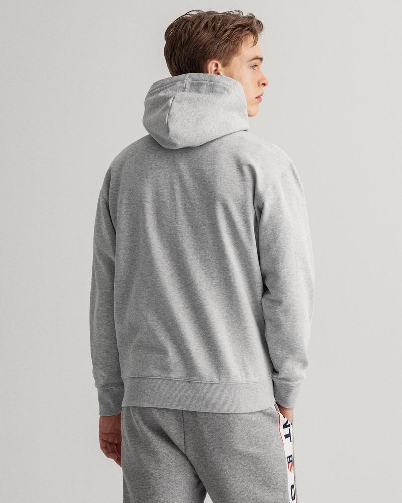 GANT Erkek Gri Baskılı Relaxed Fit Sweatshirt