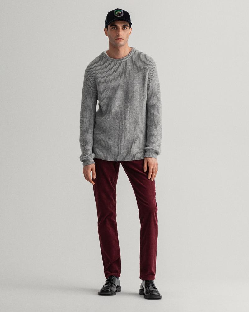 GANT Erkek Kırmızı Slim Fit Pantolon